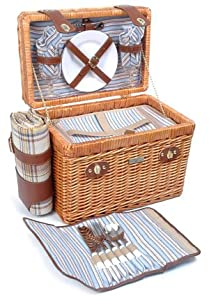 Willow & Wood Picnic Basket by Picnic and Beyond