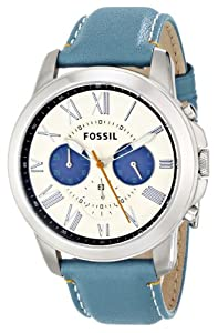 Fossil Men's FS4920 Grant Analog Display Analog Quartz Blue Watch