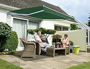 store banne budget manuel 4m x 3m vert jardin. Black Bedroom Furniture Sets. Home Design Ideas