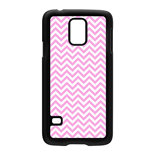 Baby Pink Chevron Pattern Black Hard Plastic Case Snap-On Protective Back Cover For Samsung® Galaxy S5 By Ultracases + Free Crystal Clear Screen Protector