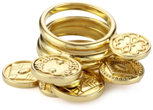 House of Harlow 1960 Gold-Plated Coin Ring, Size 8