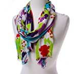 Floral and Stripe Scarf