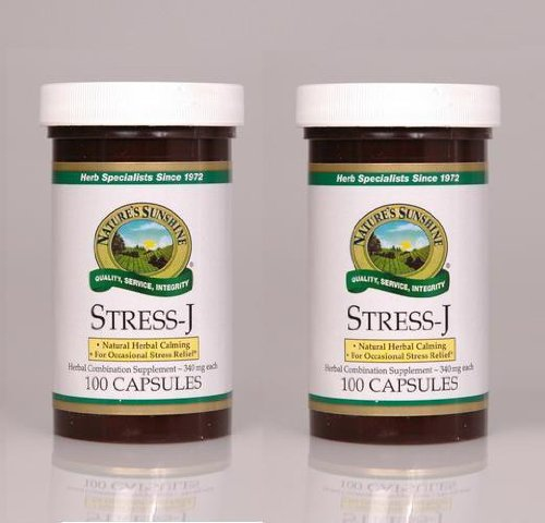 Naturessunshine Stress J Nervous System Support Herbal Combination Supplement 100 Capsules (Pack of 2)