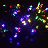 IColourful Solar Power String Lights 60feet 200 LEDS Christmas Colourful Fairy light Ideal for Party Outdoor Garden Decorations