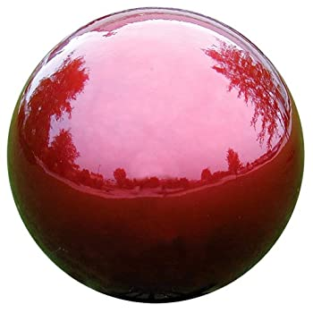 VCS RED10 Mirror Ball 10-Inch Red Stainless Steel Gazing Globe