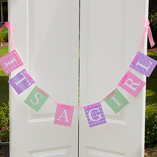 """""""It'S A Girl"""" Banner - Baby Shower Decorations - Welcome Baby Banner"""