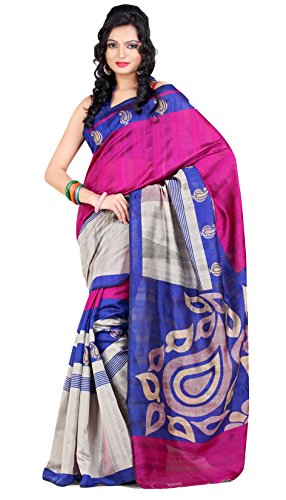 Samskruti Sarees Women  Exclusive Printed Art Silk Kairi Design Saree for Women (5135)