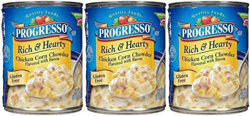 Progresso Rich & Hearty Soup - Chicken Corn Chowder - 18.5 oz - 3 pk (Progresso Chicken Corn Chowder compare prices)