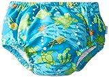 i play. Toddler Boys' Snap Reusable Absorbent Swim Diaper, Aqua, 4T