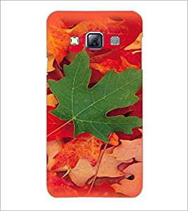 PrintDhaba Mapple Leaf D-4784 Back Case Cover for SAMSUNG GALAXY A3 (Multi-Coloured)