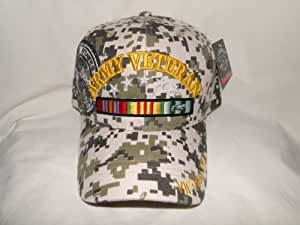 New! United States Army Veteran Camouflage Velcro Hat
