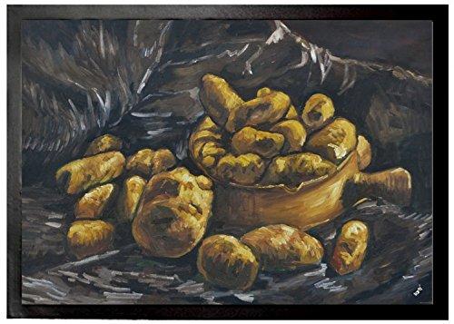 Vincent Van Gogh Paillasson Essuie-Pieds - Nature Morte Avec Des Pommes De Terre Dans Une Coupe, 1885 (70 x 50 cm)