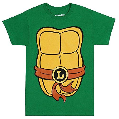 [Teenage Mutant Ninja Turtles Adult Costume T-Shirt - Leo Brown (XXX-Large)] (Tv Show Costumes For Men)