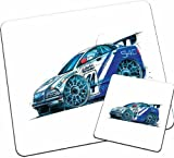 Personalised Koolart Volvo S40 BTCC Car Wood Table Mat Set