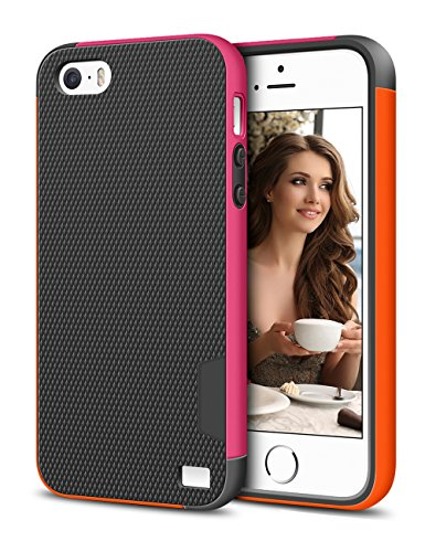 iPhone 5s Case, LoHi® Apple iPhone 5 5s Cover Slim Case Bumper Shockproof iPhone 5G Anti-Scratch Shell Soft Premium Dual Color TPU Cover for iPhone