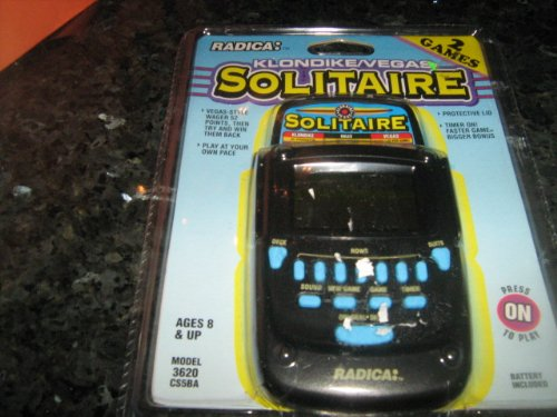 Radica Klondike/Vegas Solitaire Handheld Game Model# 3620 CS5BA