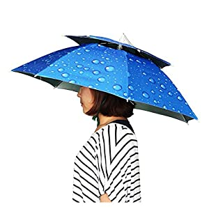 【Kaynikon】 レジャーハット 折りたたみ傘帽子 かぶる傘 両手が自由 釣りの際の日差しカット  スポーツ 観戦キャンプ 屋外作業 つり用傘 屋外イベント すげ笠 釣り帽子 釣傘