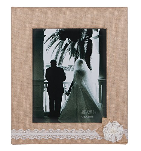 C.R. Gibson Tabletop Photo Frame, 8 by 10-Inch, Moments
