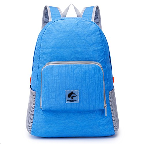 Boundless Voyage Outdoor Casual Nylon Ultralight Folding Backpack Hiking Daypack 14L Blue