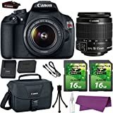 Canon EOS Rebel T5 DSLR Camera with Canon EF-S 18-55mm IS Lens. + 2 Pieces 16GB SD Memory Card + Canon Bag + Cleaning Kit