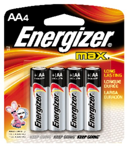 Energizer Max Aa Batteries, 4-Count front-671495