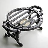 キャストアイアン:ラウンドウォーマー(キャンドル付き)[ケトルやポット、鍋の保温に][人気商品]