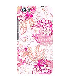 Floral Painting 3D Hard Polycarbonate Designer Back Case Cover for Micromax Canvas Fire 4 A107