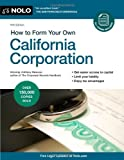 img - for How to Form Your Own California Corporation by Anthony Mancuso Attorney (2011-03-08) book / textbook / text book