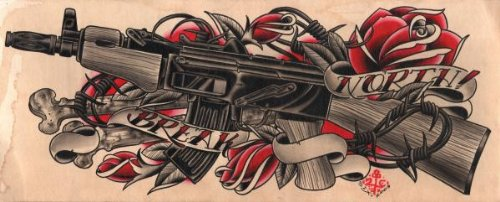 Gun And Roses Tattoo Machine Gun  amp Roses Tattoo