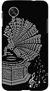 Kasemantra Gramophone Typography Case For LG Google Nexus 5