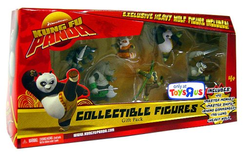 Buy Low Price Mattel Kung Fu Panda Movie Collectible 6 Figure Gift Pack [Exclusive Heavy Wolf Figure!] (B001A62J5W)