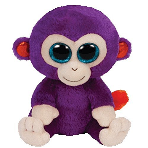 Ty Inc Beanie Boo Plush Stuffed Animal Grapes Purple Monkey