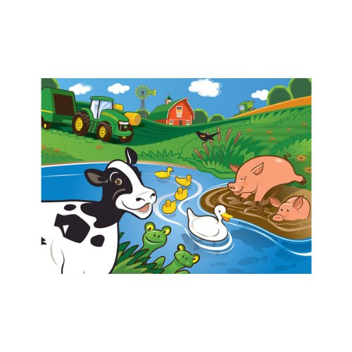 MasterPieces John Deere Moo, Quack, Oink Puzzle (60pc) - 1
