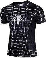 WUKE Men's Spider Man Short T-shirt