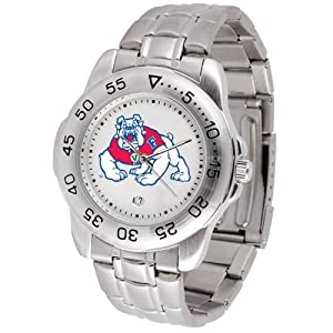 Fresno State Bulldogs NCAA Sport Mens Watch (Metal Band) by SunTime