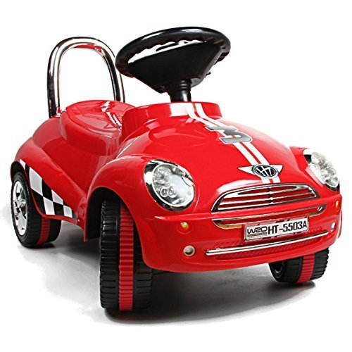 Red-Ride-On-Car-Toy-Gliding-Scooter-with-Sound-Light-by-Unknown
