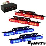 Blue Red 36x LED Emergency Vehicle Deck Strobe Warning Lights - 1 set