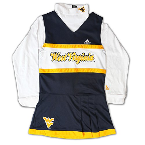 West Virginia Mounatineers Kids Cheerleader Outfit With Turtle Neck