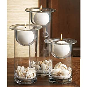 Home essentials terra set of 3 candle holders for Home decorations amazon