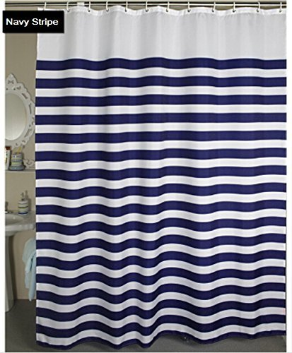 Heavyweight 12 Grommets Shower Curtain Water Repellent