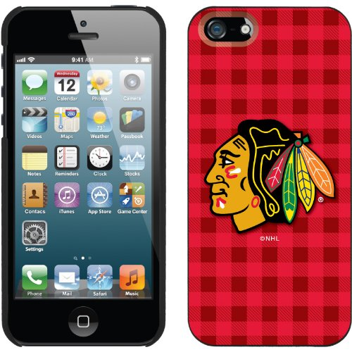 Best Price Chicago Blackhawks« - Plaid design on a Black iPhone 5s / 5 Thinshield Snap-On Case by Coveroo