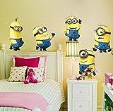 Abnehmbare Wandaufkleber 5 Minions Despicable Me Kinderzimmer Dekoration - Groß