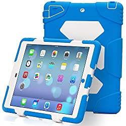 iPad Air2 Case,iPad 6 Case,Aceguarder®New Design[Waterproof][Shockproof][Scratchproof][Drop resistance]Super Protection Cover Case iPad Air2(iPad 6)(2015) (light blue-white)