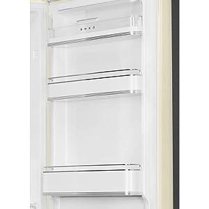 Right Hinge Ft Retro Refrigerator with Bottom Freezer Smeg FAB32URWH3 24 Inch Wide 11.7 Cu