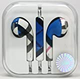 Original ASH Camouflage Earphones / Headphones For Apple iPad iPod iPhone 5,4,4s,3g,3 With Remote, Mic & Volume Controls (Black/Blue)