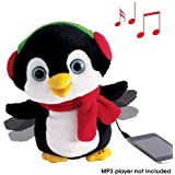 Penny The Penguin Animated Speaker Moves To The Music