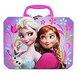 Disney Frozen Elsa, Anna & Olaf Deluxe Purple Tin Lunch Box