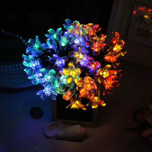 Innoo Tech 5M 50 LED Solar Blossom Decorative Fairy Lights Ideal for your patio, garden, lawn, chrismas trees, parties, weddings and other celebrations-Multi color