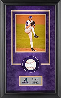Randy Johnson Arizona Diamondbacks Framed Autographed Baseball Shadowbox with HOF 15 Inscription - Fanatics Authentic Certified