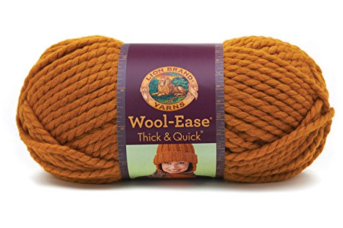 Lion Brand Yarn 640-189A Wool-Ease Thick and Quick Yarn, Butterscotch